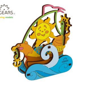 braca panze puzzle colorat ugears, puzzle colorat 3d mecanic ugears, ugears, puzzle ugears, puzzle copii ugears, puzzle barca