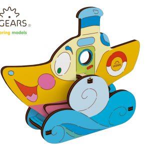 vapor colorat ugears, vapor ugears, vapor puzzle ugears, puzzle ugears, puzzle 3d mecanic ugears, ugezr, puzzle 3d, puzzle mecanic, puzzle copii, puzzle copii ugears